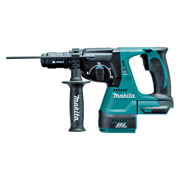 Makita 18V BRUSHLESS 24mm Rotary Hammer, Quick Change Drill Chuck - Tool Only