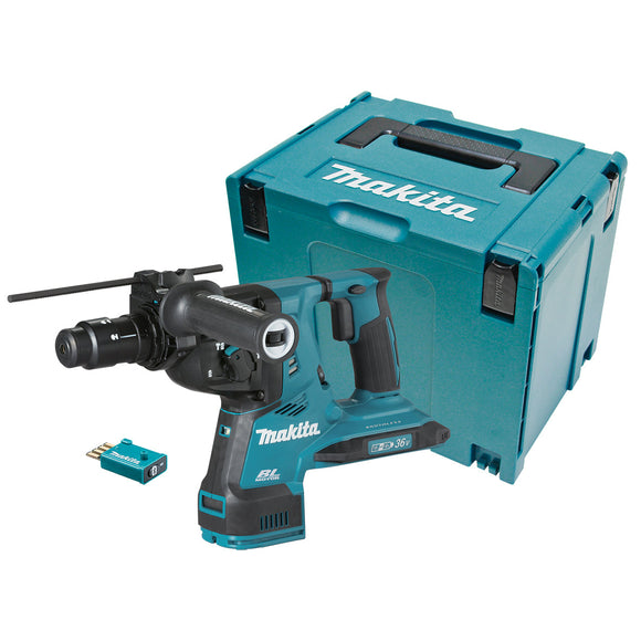 Makita 18Vx2 BRUSHLESS AWS* 28mm SDS Plus Rotary Hammer, Quick Change Drill Chuck - Tool Only                                                                                                                     *AWS Receiver sold separately (198901-5)