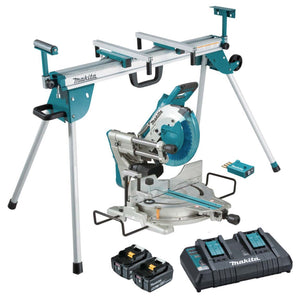 Makita 18Vx2 Brushless AWS 260mm Slide Compound Saw Kit + Mitre Saw Stand