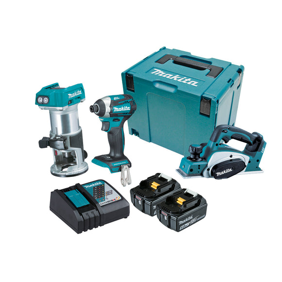 Makita 18V Cordless  3 Piece BRUSHLESS Combo Kit