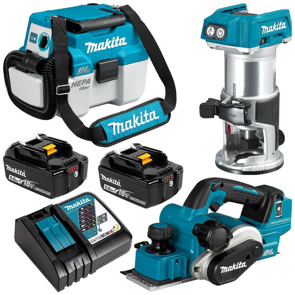 Makita 18V Brushless 3 Piece Combo Kit