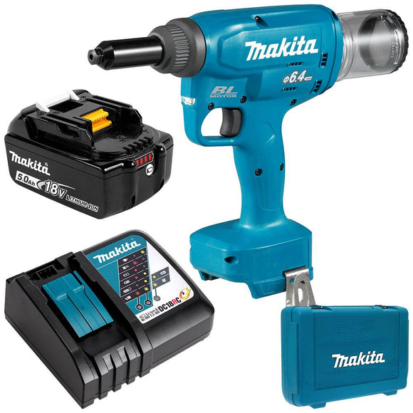 Makita 18V Brushless 6.4mm Rivet Gun Kit