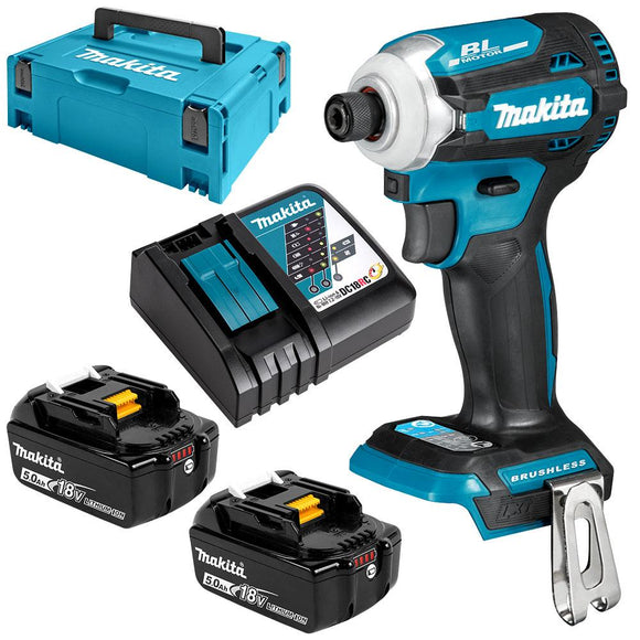 Makita 18V Brushless 4-Stage Impact Driver 5.0Ah Set