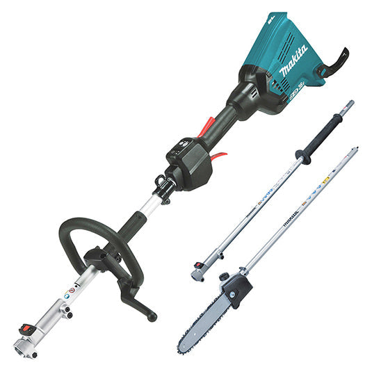 Makita 18Vx2 BRUSHLESS Multi-Function Powerhead - Tool Only, LE400MP Extension Pole, EY401MP Pole Saw Attachment 250MM