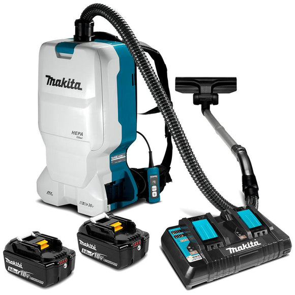 Makita 18Vx2 Brushless Backpack Vacuum Kit