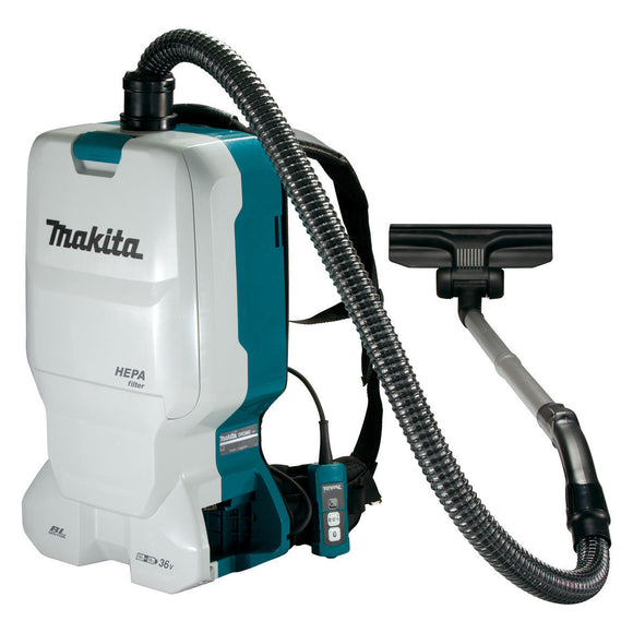 Makita 18Vx2 Brushless Backpack Vacuum