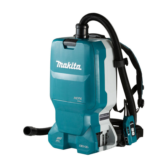 Makita 18Vx2 AWS Brushless Backpack Vacuum