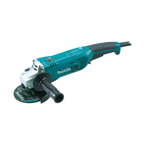"Makita 125mm (5"") Angle Grinder, 1450W, Constant Speed Control, soft start, current limiter, anti-restart, SJS"