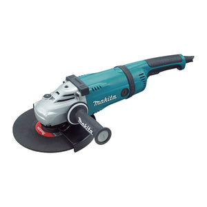 "Makita 230mm (9"") Angle Grinder, 2400W, soft start, anti-vibration handle"