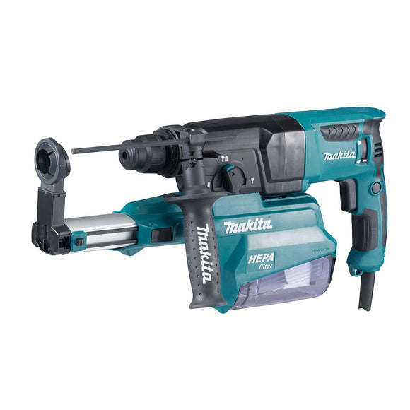 Makita 26mm SDS Plus Rotary Hammer, 800W, Inbuilt Dust Extraction