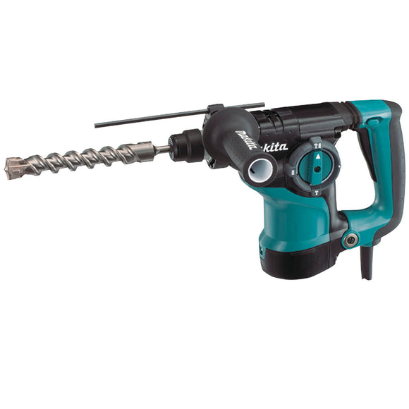 Makita 28mm SDS Plus Rotary Hammer, 800W, LED Joblight, Quick change chuck & Carry case