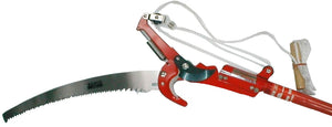 Pole pruner, telescopic - complete with pruning saw & rope - 2.95m extended