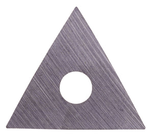 Spare blade - triangular - for 625 & old style 448 paint scraper.  Cemented carbide blade stays sharper longer than conventional steel blade.