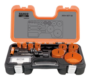 Holesaw set 11 pce VIP 16, 22, 25, 29, 32, 41, 51, 73, 83mm & 930 & 9100 arbors