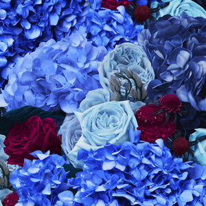 Blue & Fuchsia Bouquet Cushion from Flying Dutchman Walls