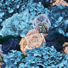 Dusty Blue & Cream Bouquet Cushion