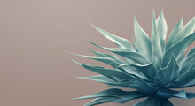 Pale Green on Dusty Pink Agave Mural Wallpaper
