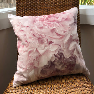 Pink Peony Cushion by Flying Dutchman Walls