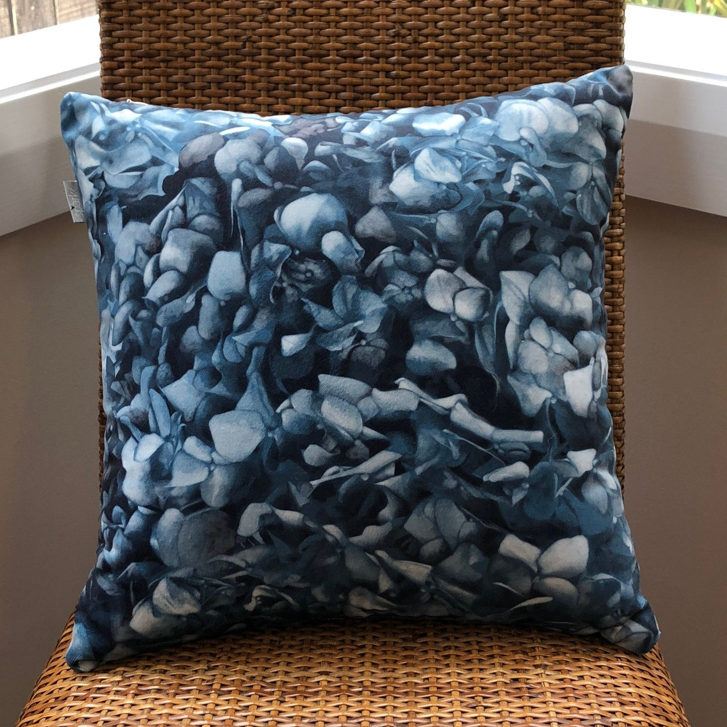 Dusty Green Hydrangea Cushion