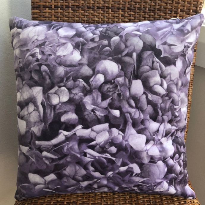 Purple Hydrangea Cushion