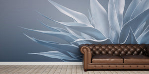 Blue on Blue Agave Mural Wallpaper