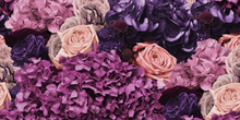 Pink & Purple Bouquet Wallpaper