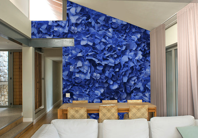 Blue Hydrangea Mural Wallpaper