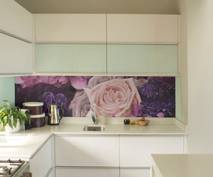 Pink & Purple Bouquet Mural Wallpaper