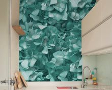 Mint Green Hydrangea Mural Wallpaper