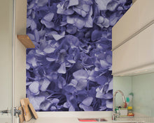 Purple Hydrangea Mural Wallpaper