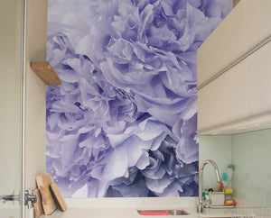 Purple Peony Mural Wallpaper
