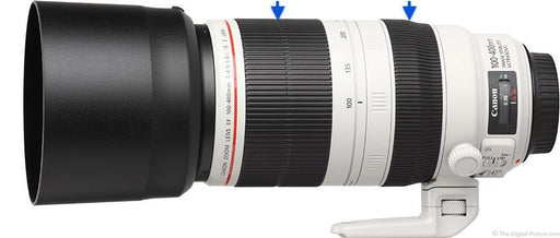 band.it placement for Canon EF 100-400mm lens rubber ring replacement