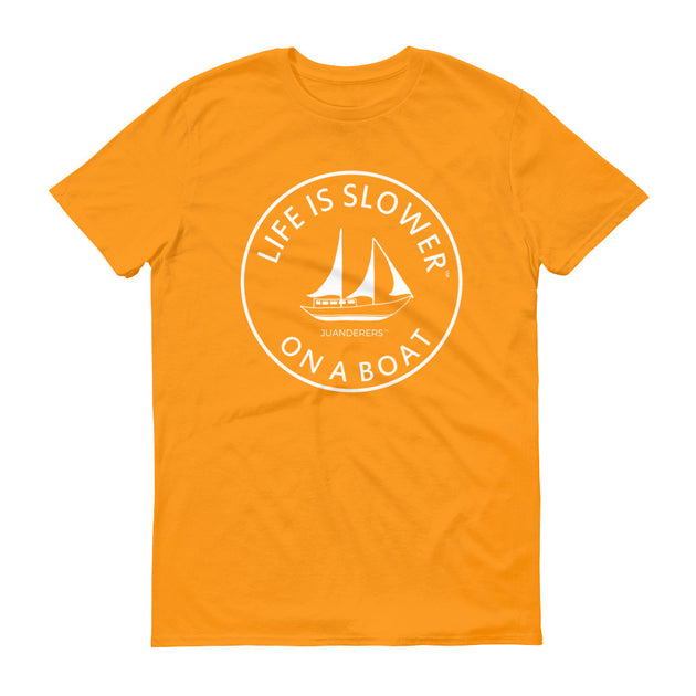 Life is slower™ | Short-Sleeve T-Shirt | Boat