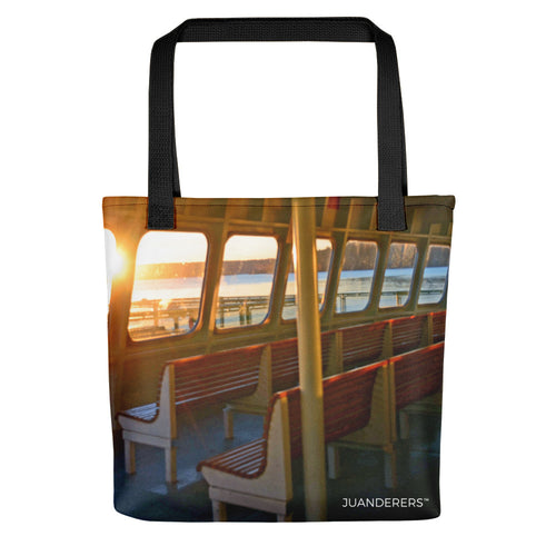 Merchandise | Full Print Tote bag | Ferry Benches