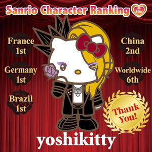 YOSHIKITTY DEFEATS HELLO KITTY TO WIN #1 IN FRANCE, GERMANY, AND BRAZIL AND #2 IN CHINA