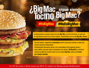 La icónica Big Mac incorpora un nuevo ingrediente a su receta original para crear Big Mac Tocino