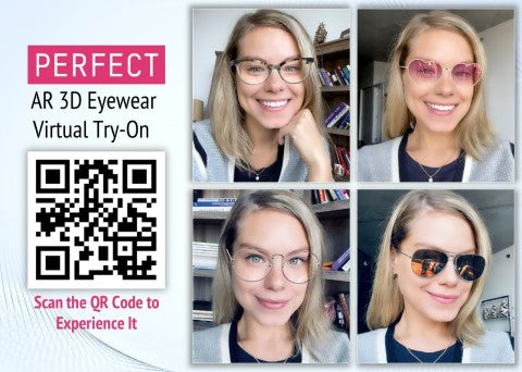 Perfect Corp. Launches Augmented Reality Virtual Try-On Service for 3D Eyewear That is Quick and Easy to Set Up