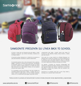 Trivia: Gana con Samsonite y su Linea Back To School