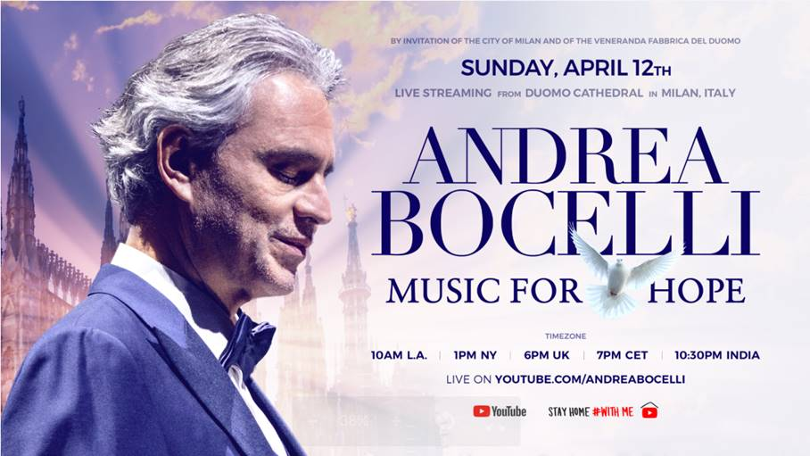 'MUSIC FOR HOPE' DE ANDREA BOCELLI