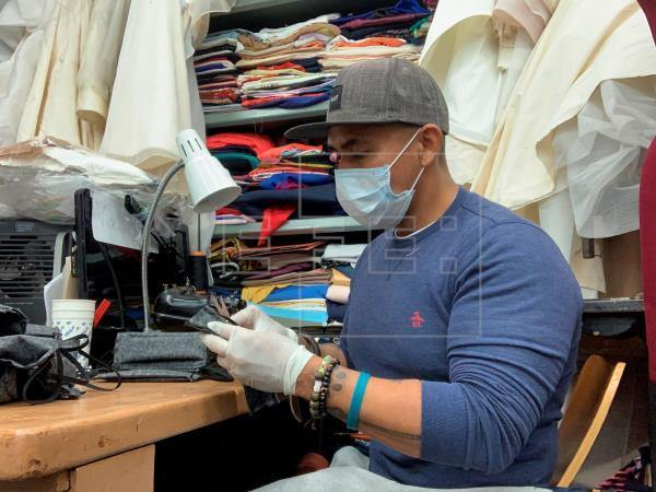 Colombian fashion designer producing facemasks for coronavirus crisis