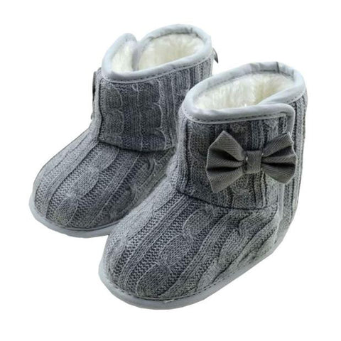 Adorable Baby Bowknot Soft Sole Snow Boots