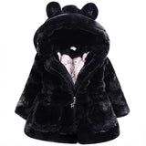 Baby Faux Fur Rabbit Ears Coat