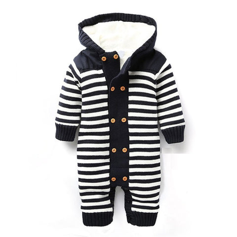 Baby Knitted Hooded Romper
