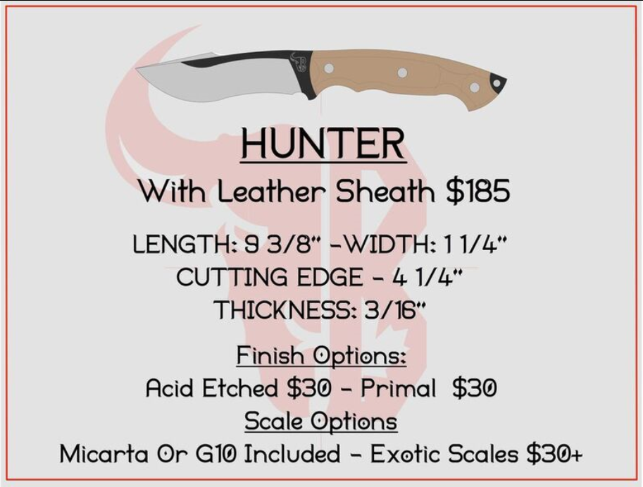 Hunter with Leather Sheath