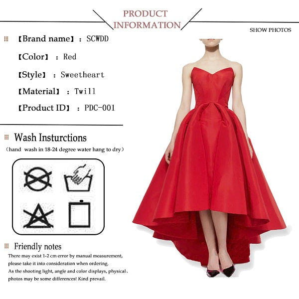 A-Line party dresses puffy satin red summer party dresses