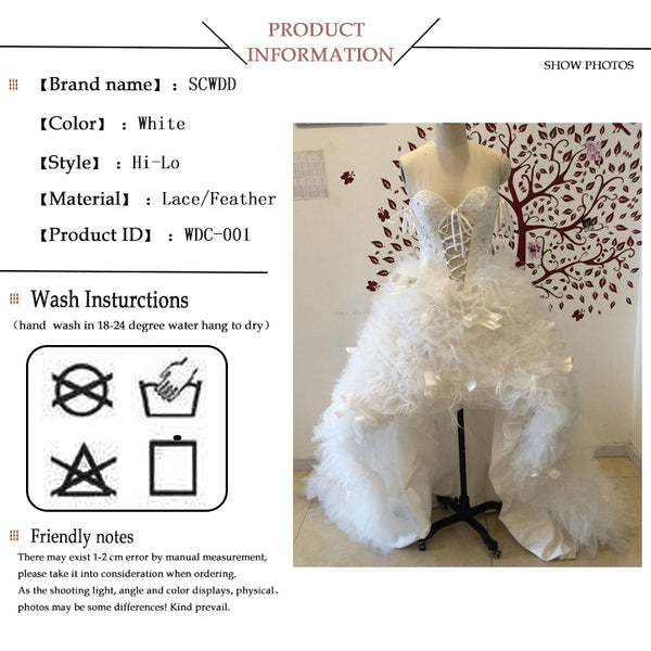 Lace wedding dress sleeveless lace up applique beadings feather