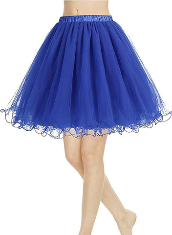 A-Line mesh tutu ruffle skirts for women S126