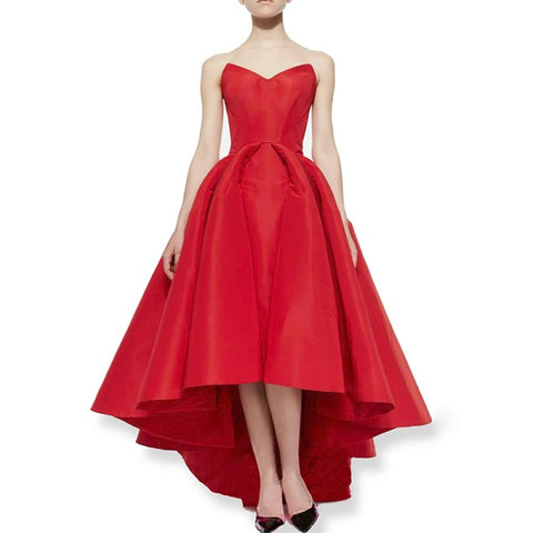 A-Line party dresses puffy satin evening dresses D20