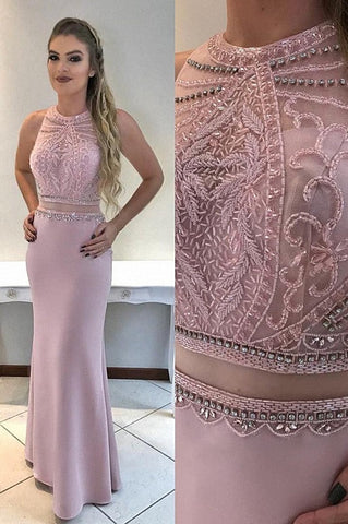 Beading prom dresses mermaid evening gowns B57