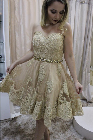 Beautiful lace homecoming/cocktail dress short prom dress T33